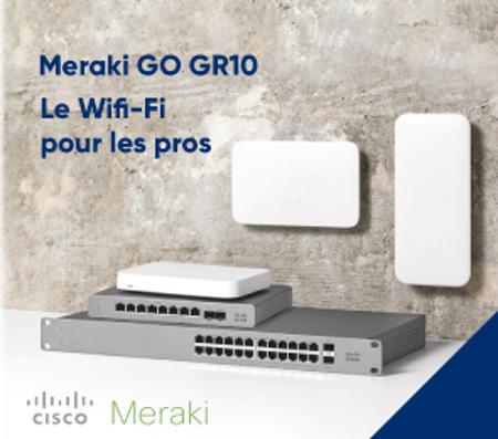 Bannière Cisco Meraki  GO GR10