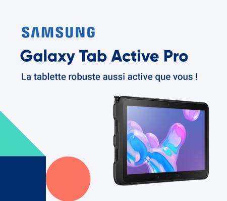 Bannière Samsung Galaxy Tab Active Pro